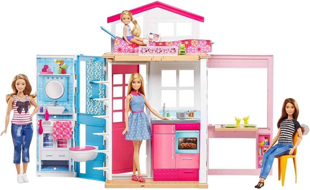 Dieses Barbie ferienhaus enthält eine Barbie-Puppe.