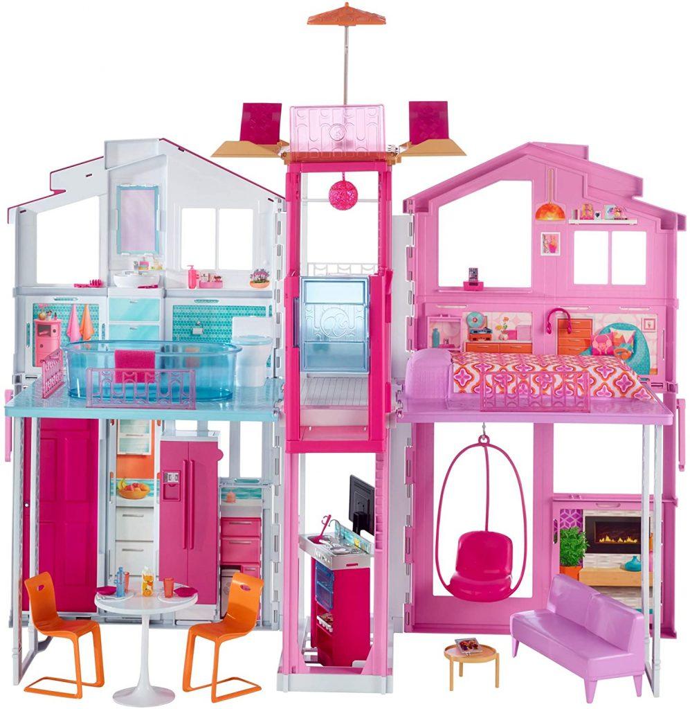Dieses Barbie Stadhaus ist für Kinder ab 3 Jahren konzipiert.