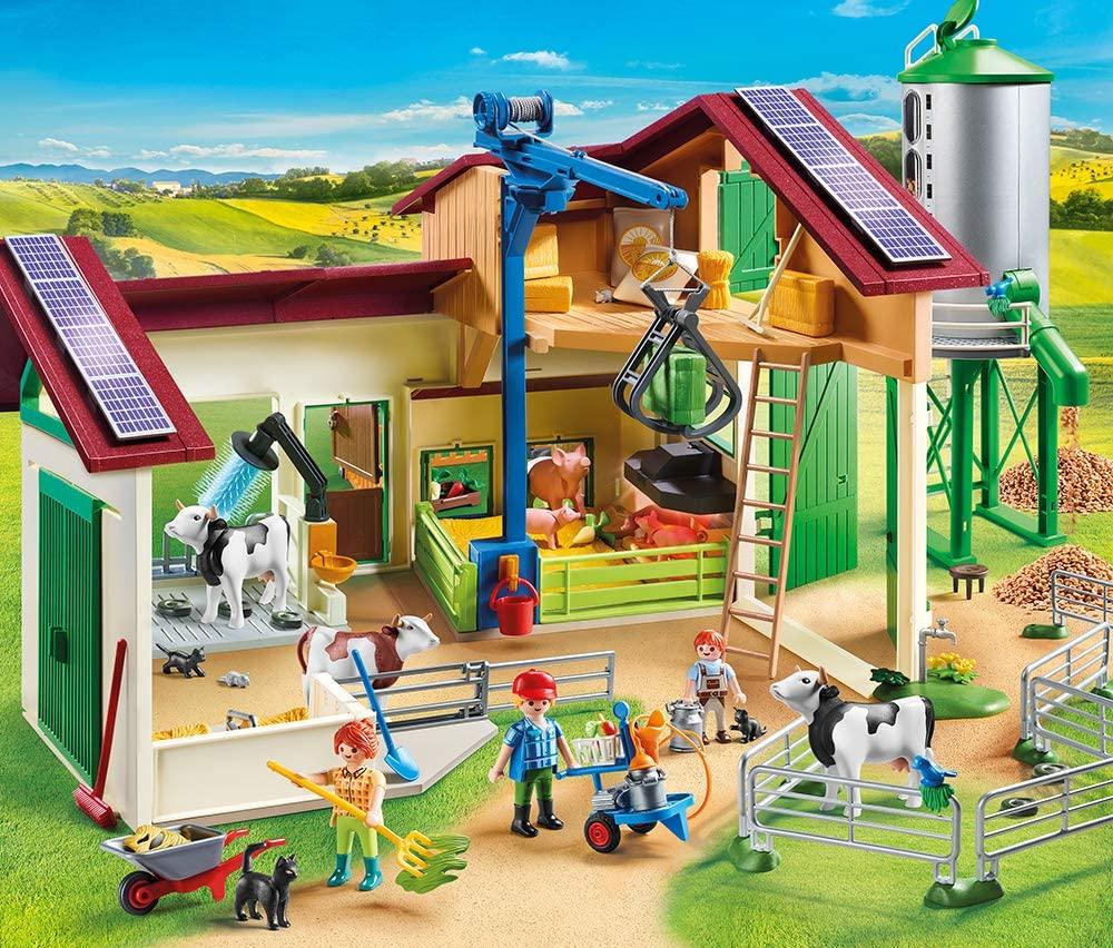 Diese Playmobil bauernhof wird mit Nutztieren geliefert.