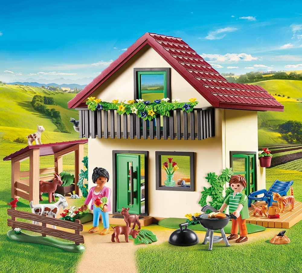 Dieses Playmobil Country haus kommt mit Ziegen.