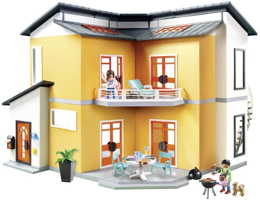 Das Playmobil modernes Wohnhaus verfügt über einen großen Balkon.