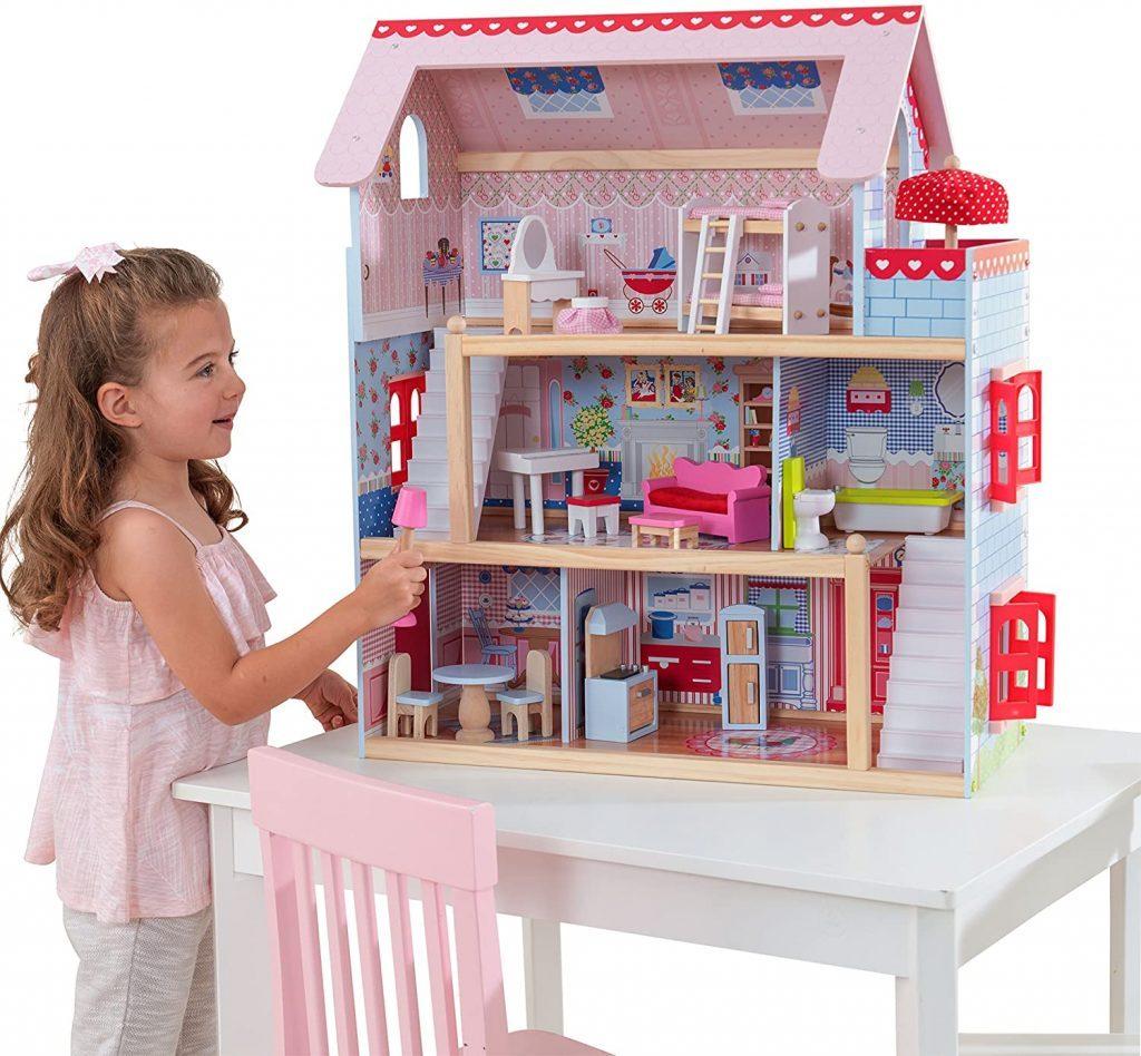 Dieses Kidkraft puppenstube Chelsea bietet Platz für 12 cm große Puppen.